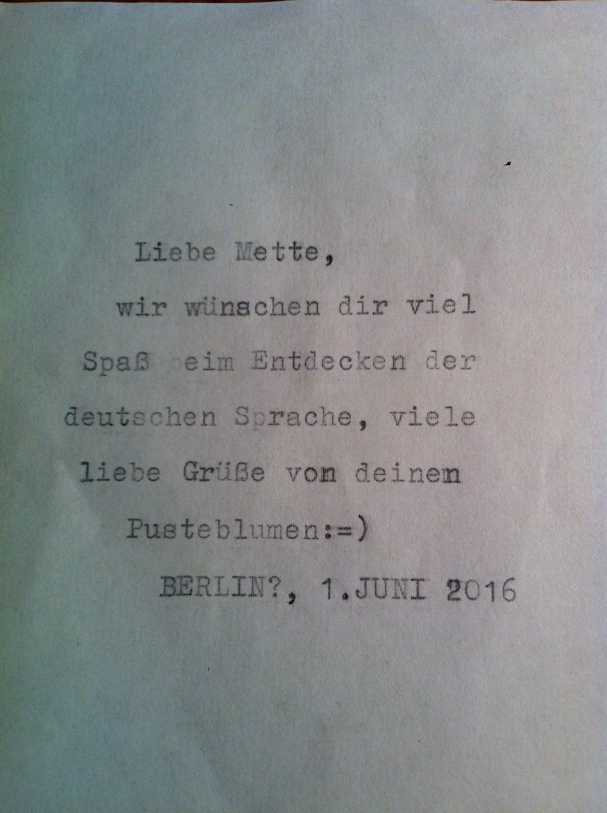 Breve med vinden i Berlin