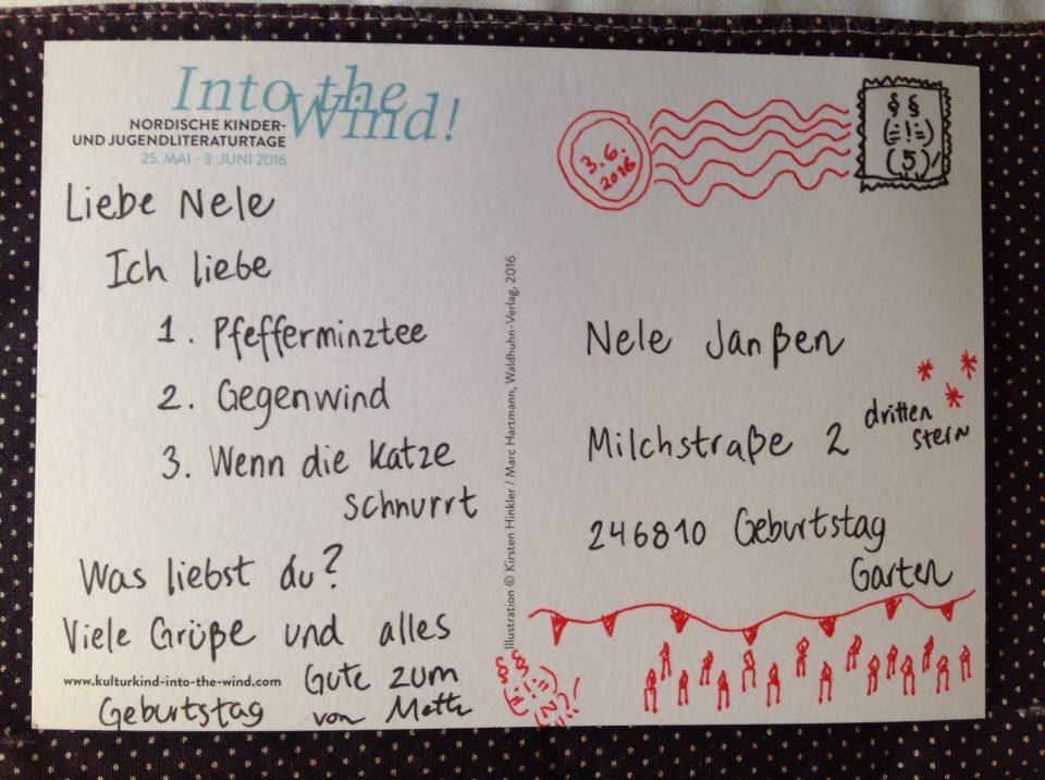 postkort til Nele